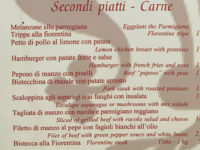 italian pronunciation - florentine menu - itsflorence