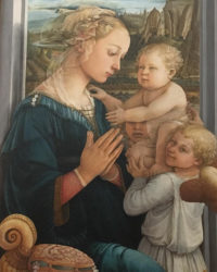 christmassy art in florence - itsflorence - Madonna with Child and two Angels by Filippo Lippi